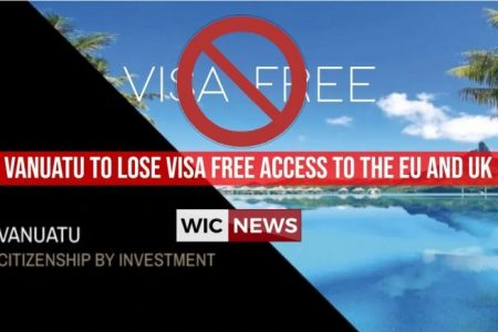 Vanuatu to lose visa free access to the EU and UK