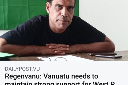 Regenvanu: Vanuatu needs to maintain strong support for West Papua