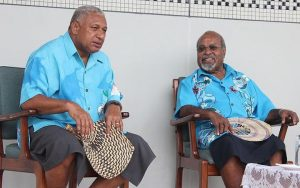 Frank Bainimarama and Sir Michael Somare. Photo: Supplied