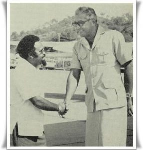 Sir Michael Somare with his good friend and mentor the late Ratu Sir Kamisese Mara. Photo: Supplied